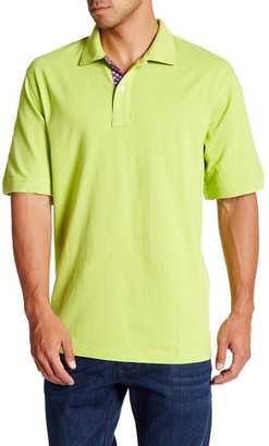 Bristol & Bull Pindot Contrast Pique Polo (Big & Tall) $19.97 thestylecure.com