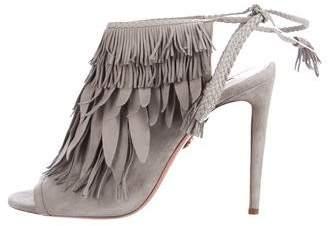 Aquazzura So Pocahontas 105 Suede Sandals