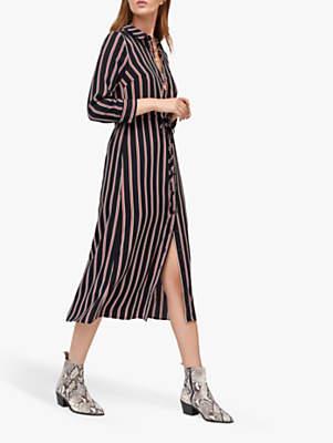 Warehouse Honey Stripe Dress, Black Stripe
