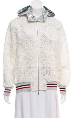Moncler Gamme Rouge Guipure Lace Bomber Jacket w/ Tags