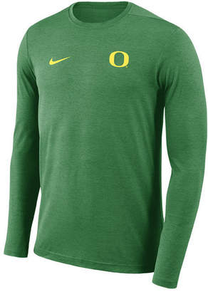 Nike Men's Oregon Ducks Long Sleeve Dri-Fit Coaches T-Shirt