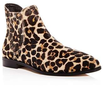 Rebecca Minkoff Women's Madysin Too Leopard Print Calf Hair Pointed Toe Booties