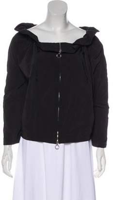 Lanvin Ruffle-Trimmed Zip-Up Jacket
