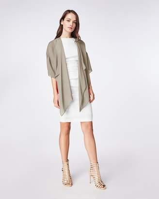 Nicole Miller Solid Silk Blend Short Sleeve Kimono