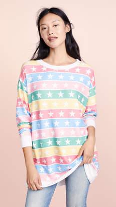 Wildfox Couture Stellar Stripe Roadtrip Sweatshirt