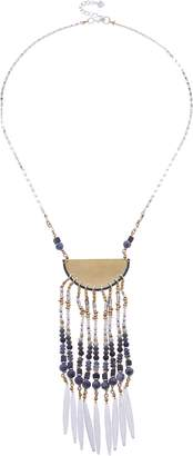 Nakamol Design Beaded Fringe Pendant Necklace