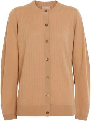Burberry Rib Knit Cashmere Cardigan