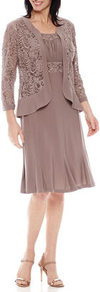 R & M Richards Long Sleeve Jacket Dress $120 thestylecure.com