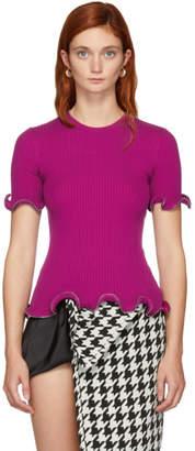Alexander Wang Pink Ruffle Zipper T-Shirt