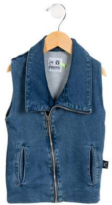 Nununu Girls' Denim Vest