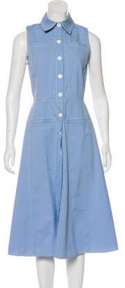 Derek Lam Sleeveless Midi Shirtdress w/ Tags