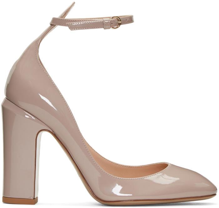 Valentino Pink Valentino Garavani Patent Tan-Go Mary Janes
