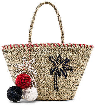 Sundry Palm Trees Straw Tote