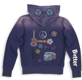 Butter Shoes Little Girl's & Girl's Embellished Zip Hoodie