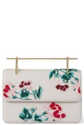 M2Malletier La Fleur du Mal Embellished Calfskin Leather Shoulder Bag
