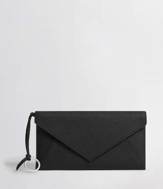 AllSaints Voltaire Leather Envelope Clutch