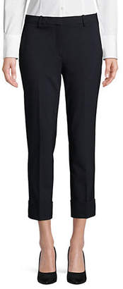 Theory Cropped Cuff Virgin Wool Pantss