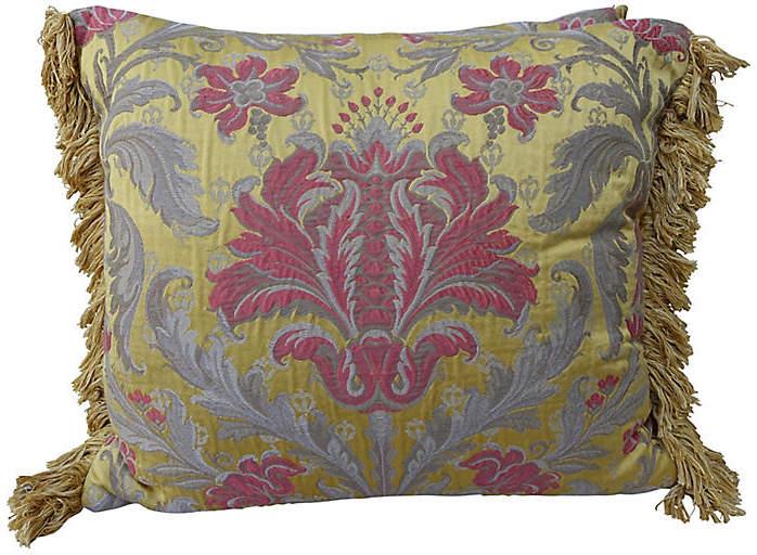 Silk & Metallic Damask Pillow