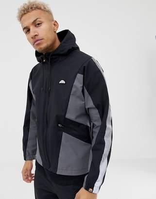 Ellesse Mannio Track Jacket With Reflective Sleeve Stripe In Black