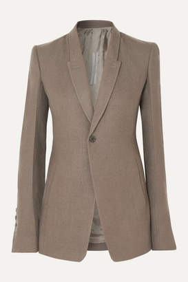 Rick Owens Wool-crepe Blazer - Light gray