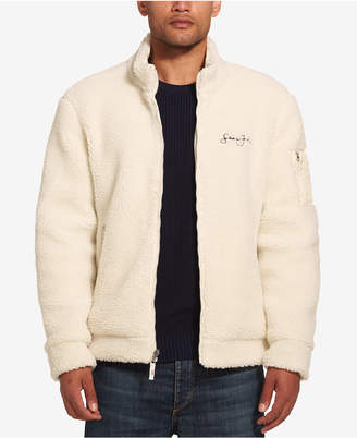 Sean John Men Fleece Bomber Jacket