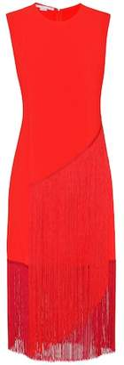 Stella McCartney Fringed crêpe dress