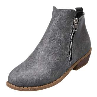 680be7c26db3 Grey Stacked Heel Boots For Women - ShopStyle Canada