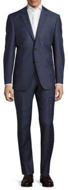 Pin-Striped Woolen Two-Piece Suit
