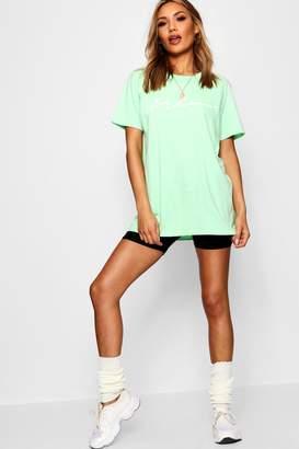 boohoo Jessa Woman Slogan Pastel T-shirt