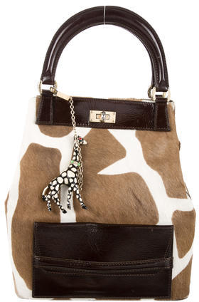 MoschinoMoschino Ponyhair Handle Bag