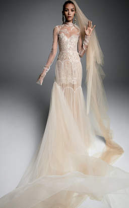 Vera Wang Sandrine Tulle Gown With Arch Tiered Skirt