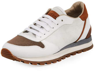 Brunello Cucinelli Suede and Leather Runner Sneaker