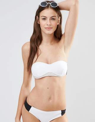 Stella McCartney Color Block Bandeau Bikini Top