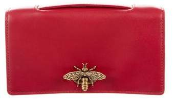 Christian Dior 2017 Butterfly-Embellished Box Clutch