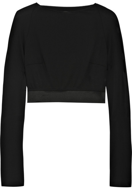 RM by Roland Mouret Cropped crepe-jersey top