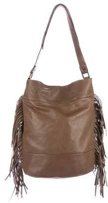 Gerard Darel Fringed Leather Shoulder Bag