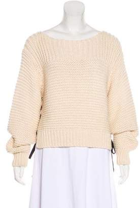 Ulla Johnson Cable Knit Lace-Up Sweater