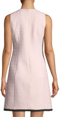 Andrew Gn Sleeveless A-Line Tweed Dress
