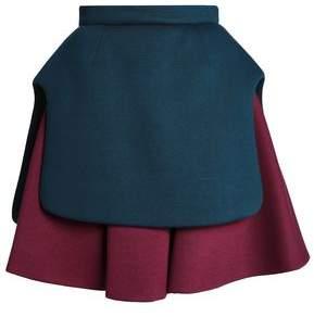 DELPOZO Layered Scuba Mini Skirt