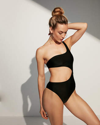 Express One Shoulder Cut-Out One-Piece Swimsuit