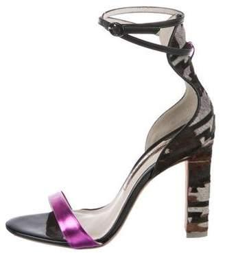 Sophia Webster Ponyhair Ankle Strap Sandals