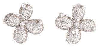 Judith Ripka 18K Diamond Earclip Earrings