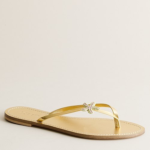 Golden starfish capri sandals