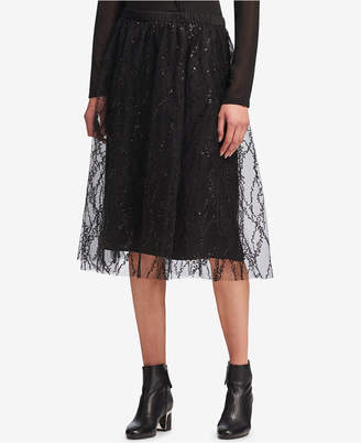 DKNY Sequined Tulle Skirt