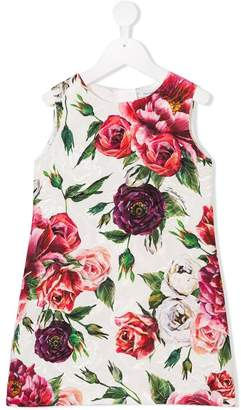 Dolce & Gabbana floral print brocade dress