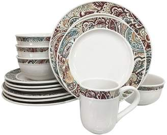 Food Network Paisley 16-pc. Dinnerware Set