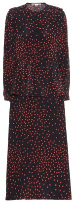 Stella McCartney Polka-dot silk-crepe maxi dress