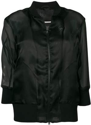 Herno sheer sleeve bomber jacket