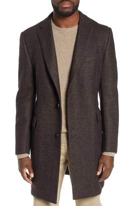 Hickey Freeman Solid Wool Overcoat