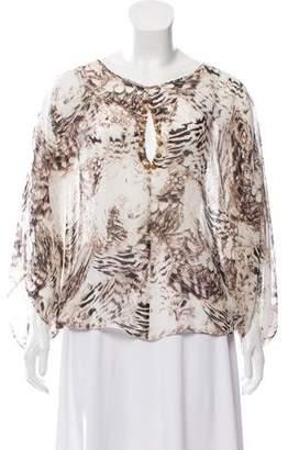 Sheri Bodell Silk Embellished Blouse